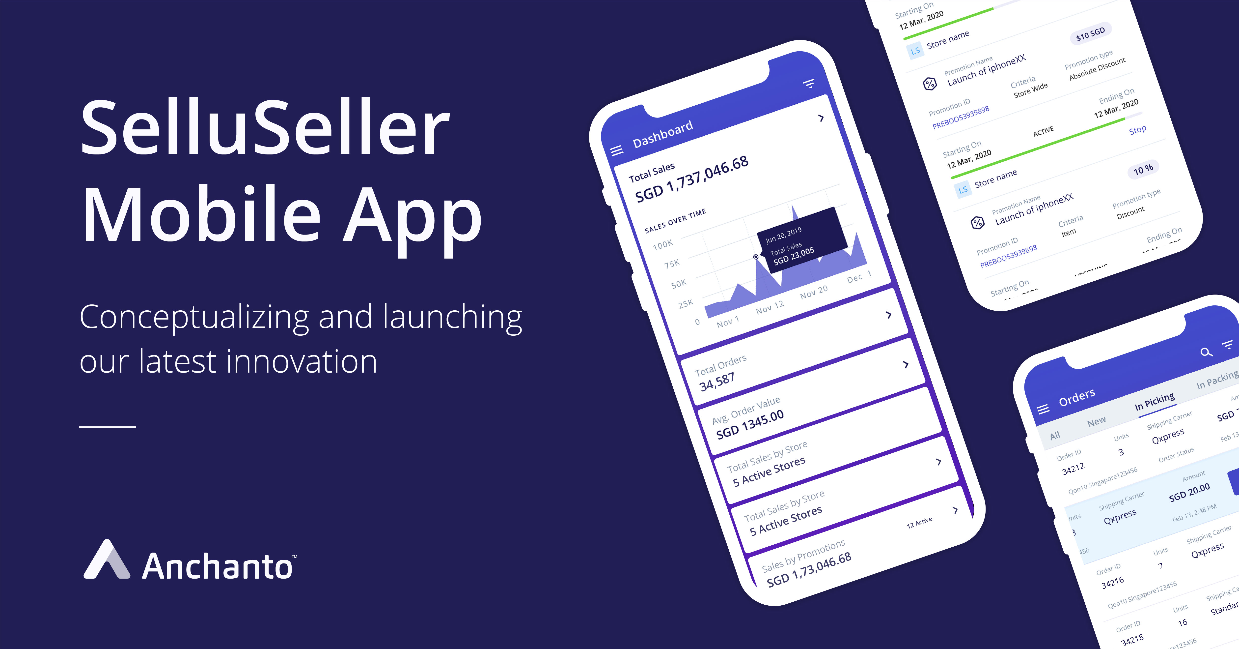 Anchanto's revolutionary and innovative SelluSeller mobile application